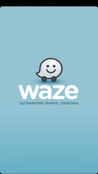 Waze app screen